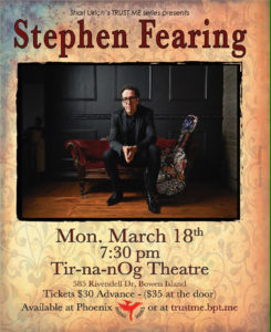 Stephen Fearing March 18th 2019