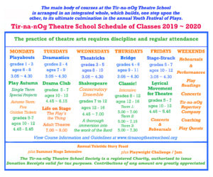 Tir-na-nOg class schedule 2 2019-20