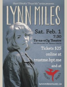 Lynn Miles Sat Feb 1st @ 7.30 2020
